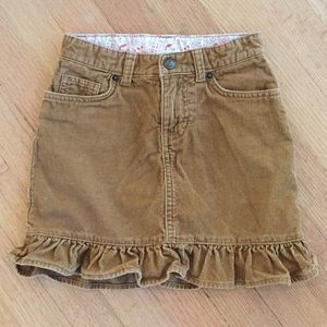 Lands End khaki corduroy skirt. Size 6x.
